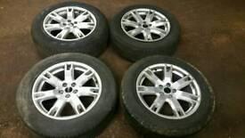 "Range rover evoque 18"" alloys with tyres"