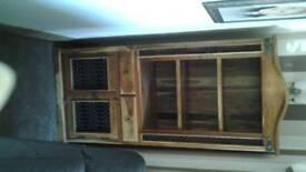 Jali solid sheesham display cabinet