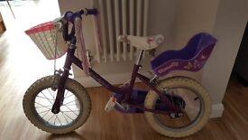 Raleigh girls 14in bike
