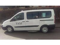 FIAT SCUDO TAXI E7 HACKNEY CARRIAGE 7 PASSENGERS - WHEEL CHAIR ACCESSIBLE VEHICLE