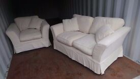 Excellent Condition sofa with armchair-Can Deliver