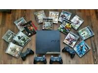 PS3 Slim with games and accessories