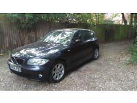 BMW 1 SERIES 118d LOW MILEAGE 85k, diesel, blue, 2005, recent service, MOT Nov 18, HPI Clear, 5 door