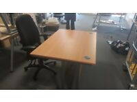 Single Cinnamon Office Desks/tables/computer desks wood finish