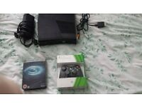 xbox 360 slim few games all wires and box and brand new joy pad all boxed £50 ono