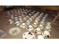 Vintage tea cups and saucers perfect for wedding decor