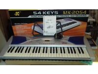 MK-2054 Electronic Keyboard, boxed and complete