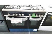 New graded Kenwood 90cm dual fuel double door range cooker with 12 months guarantee