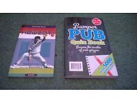 pub quiz book and cricket book