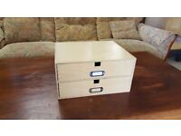 A4 sized two drawer desk tidy- Excellend Condition