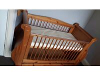 Beautiful Sleigh Cot/Toddler bed