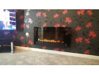 Electric Wall Mounted Fire with Heater (spares and repair)