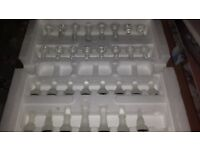 BEAUTIFUL GLASS CHESS SET BOARD GAME IN ORIGINAL BOX