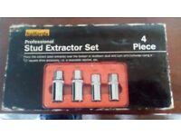 Halfords professional stud extractor set 4 piece