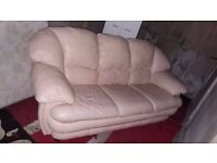 Free white leather sofa need gone asap