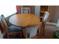 Shabby chic Dining room table project! Strong wooden table with 4 chairs !