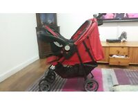 New born buggy, car seat and rain cover