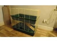 Two tier indoor rabbit /guinea pig hutch
