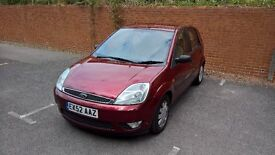 2002 Ford Fiesta Ghia 1.4L. 4 door hatch with service history, long MOT.