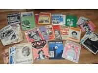 Collection of vintage sheet music