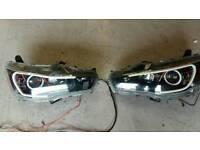 Mitsubishi Evo X headlights