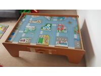 Early Learning Centre Childrens Wooden train / car table
