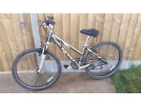Ladies giant rock mountain bike with front suspension