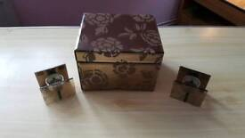 jewellry box with matching tealight holders