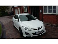 Mazda6 Sport 2.2D, FSH, Fully loaded, Full leather, SatNav with live updates, Pearl White metallic