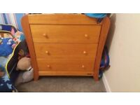 Mamas & papas drawers and changing table