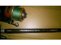 "ABU GARCIA SUVERAN 8'2"" 20lbs class heavy pike catfish lure rod"