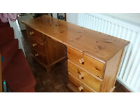 wood dressing table.