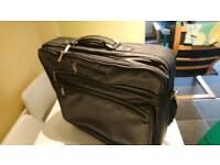 Pierre Cardin leather travel bag.