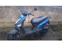 Kymco agility 125. V quick scooter. Immaculate condition. New mot. Stunning bike. £595 bargain.