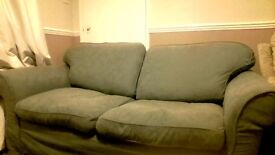 Double Sofa Bed, with Green removal covers, buyer to collect