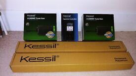 2 x Kessil A160WE Tuna Sun - 2 x Gooseneck Mounts - 1 x Spectral Controller