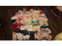 50 + baby girl clothes 0-3 and 3-6