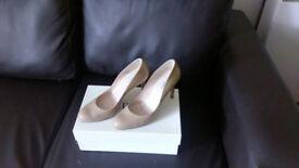 LK Bennett Leather Nude Heels