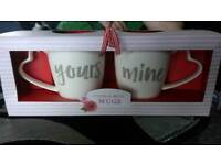 Yours and mine cup set