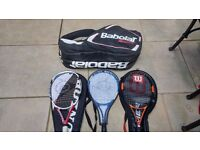 Tennis rackets and babolat bag