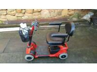 Pride gogo ultra mobility scooter red fold down good condition