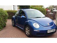 2007 Volkswagen Beetle 1.4 luna 1 owner fsh new mot £2495 *focus astra megane a3 308 size car *