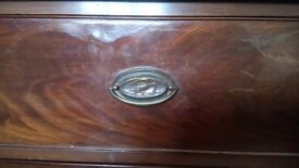 Well loved Mahogany chest of drawers