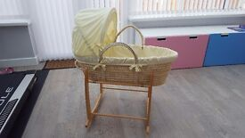 Claire De Lune Unisex moses basket and rocking stand