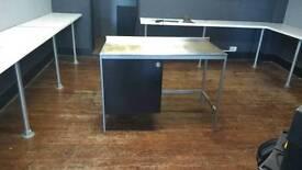 Ikea Udden stainless steel worktop with storage