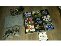 Playstation one 10 games 2 pads