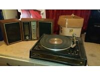GARRARD AP76 TURNTABLE & REALISTIC STEREO THREE