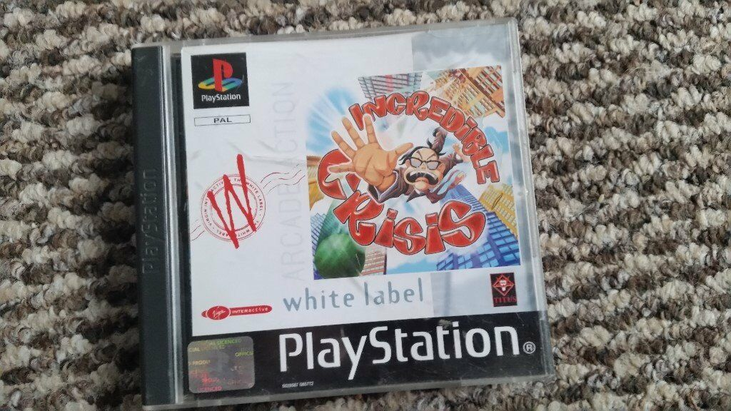playstation 1 Incredible Crisis boxed with instructions
