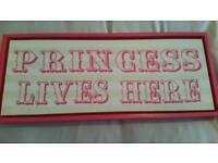 PRINCESS LIVES HERE BOX FRAME