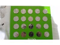 Beatrix potter coins, Jemima Puddleduck, Peter Rabbit, Tiggy & Nutkins 50p coins x 20 each in bag.